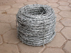 barbed security wire fence