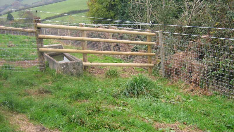 POST RAIL + WIRE MESH + 2 STRAND ELECTRIC FENCE.