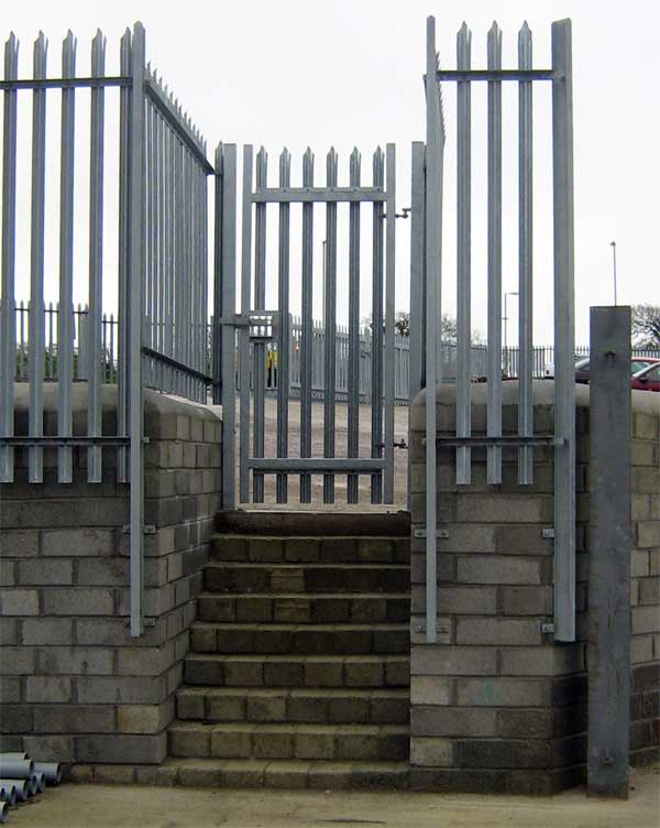 Palisade security pedestrian gates