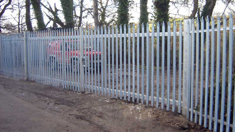 Palisade high security vehicle gates pedestrian